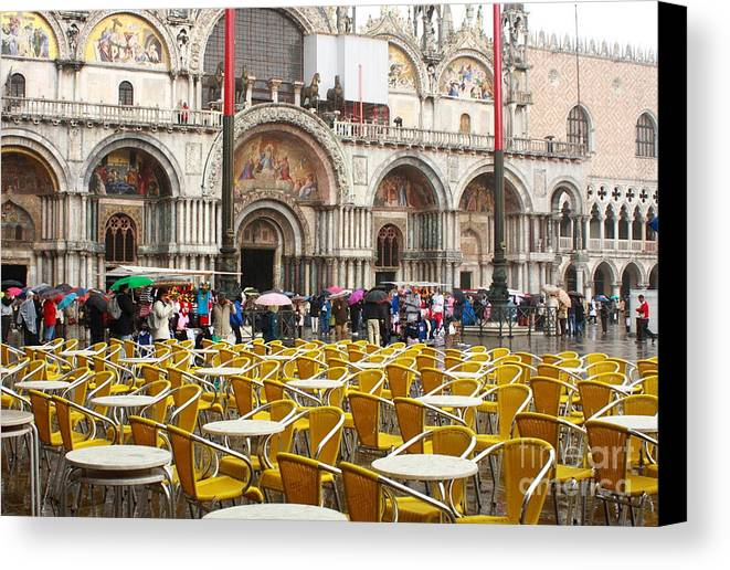 Venice Canvas Print featuring the photograph San Marco On A Rainy Day by Michael Henderson