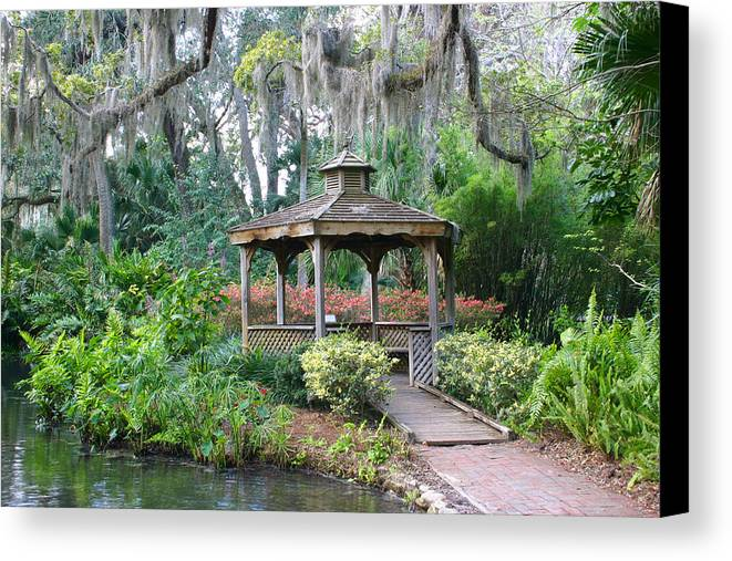 Gazebo Canvas Print featuring the photograph Serene Gazebo by Frank Russell