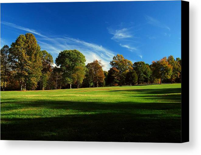 Fields Canvas Print featuring the photograph Shadows And Trees Of The Afternoon - Monmouth Battlefield Park by Angie Tirado