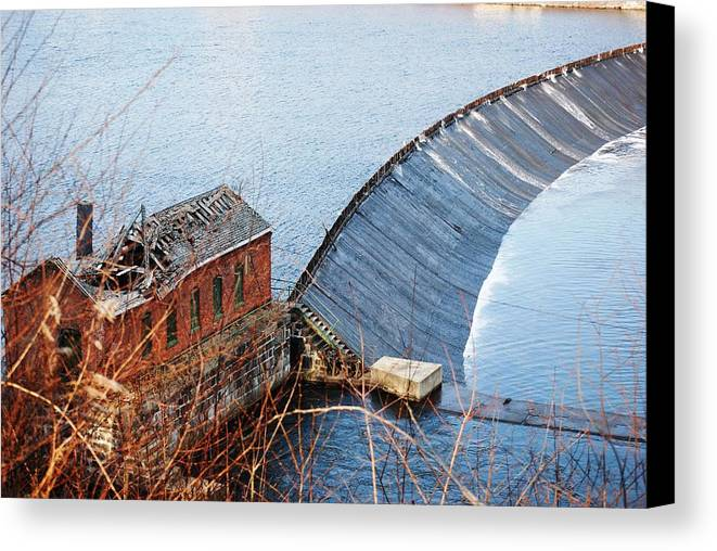 Connecticut Canvas Print featuring the photograph Shelton Hydro-electric Power House by Peter McIntosh