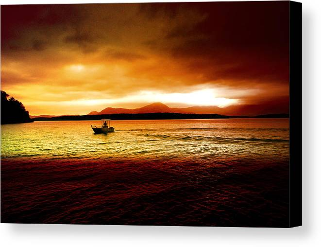 Landscape Canvas Print featuring the photograph Shores Of The Soul by Holly Kempe