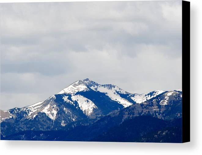Sierra Blanca Canvas Print featuring the photograph Sierra Blanca Early Spring by Jon Rossiter