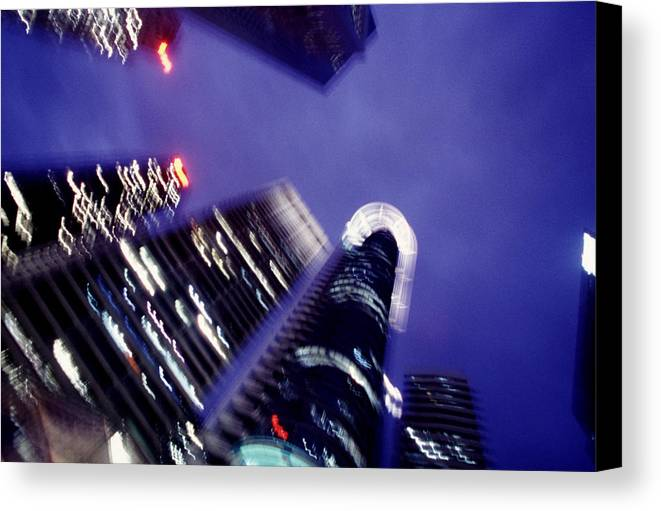 Skyline Canvas Print featuring the photograph Singapore Office Towers by Brad Rickerby