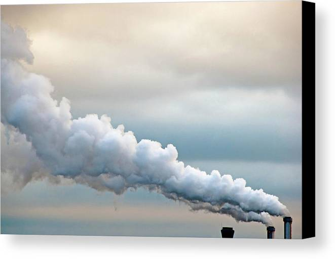 Horizontal Canvas Print featuring the photograph Smoking In The Clouds by Jane Kerrigan