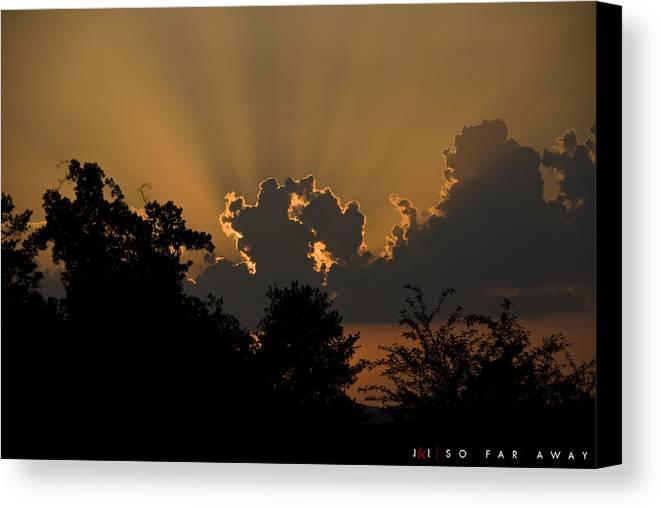 Sun Canvas Print featuring the photograph So Far Away by Jonathan Ellis Keys