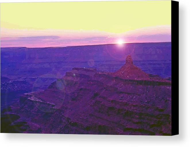 Desert Canvas Print featuring the photograph Southeastern Utah Sunset 2 by Steve Ohlsen
