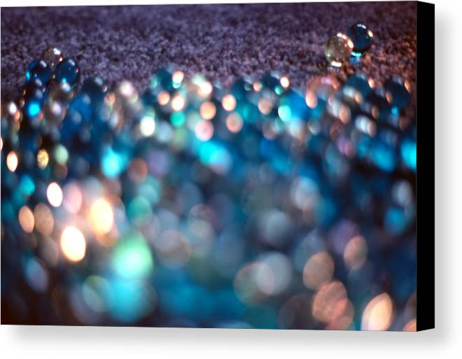 Marbles Canvas Print featuring the photograph Spotlighted Marble Abstract 3 by Steve Ohlsen