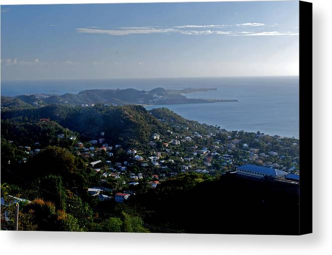 Sunset Canvas Print featuring the photograph St. George's Grenada by Gary Wonning