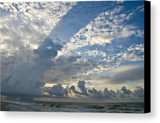 Storm Canvas Print featuring the photograph Storm On The Gulf by Jennifer Kelly