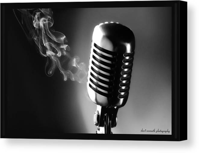 Black & White Canvas Print featuring the photograph Sultry Black And White by Sheri Bartoszek