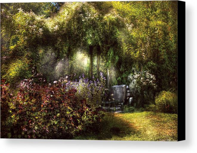 Savad Canvas Print featuring the photograph Summer - Landscape - Eve's Garden by Mike Savad