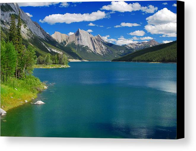 Summer Canvas Print featuring the photograph Summer On Medicine Lake by Two Small Potatoes