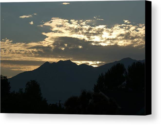 Sunset Canvas Print featuring the photograph Sunset In Summer by Liz Vernand