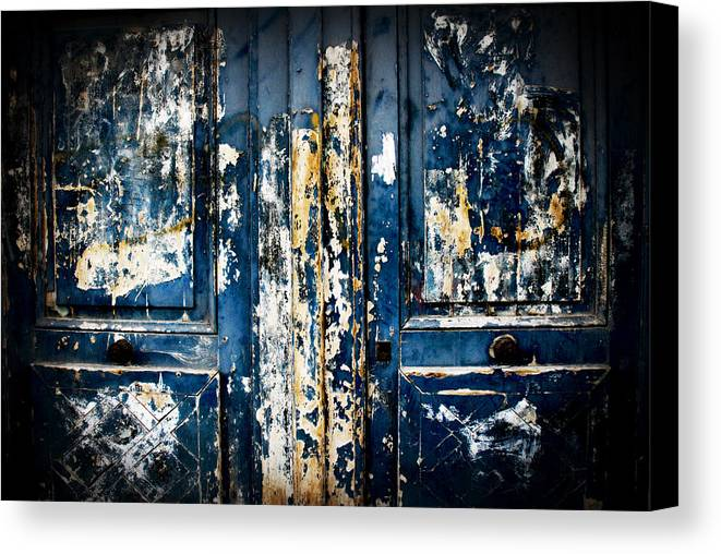 Door Canvas Print featuring the photograph Tangled Up In Blue by Cabral Stock