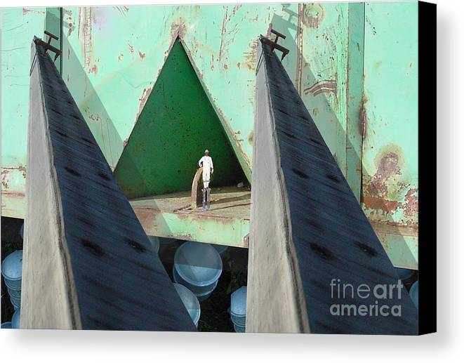 Abstract Canvas Print featuring the digital art Temple by Ron Bissett