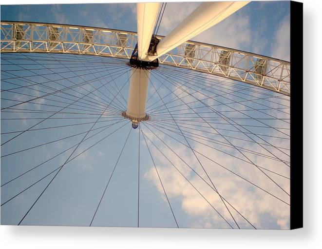 London Eye River Thames Perspective Canvas Print featuring the photograph The London Eye by Iain MacVinish