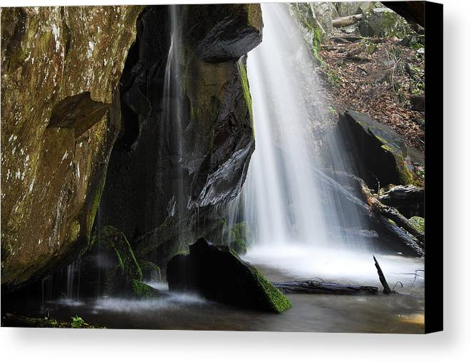 Landscapes Canvas Print featuring the photograph The Old Man Looking Down by James Elam