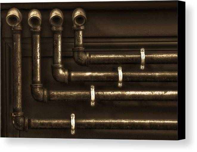 Andrew Kubica Canvas Print featuring the photograph The Pipes by Andrew Kubica