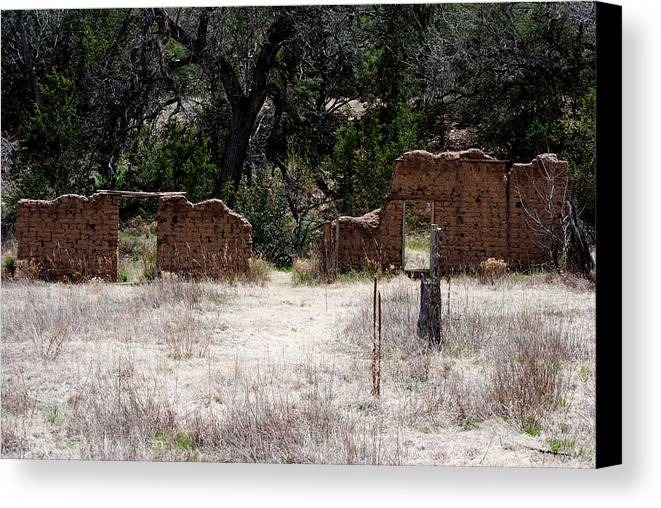 Adobe Canvas Print featuring the photograph The Ruins by Jon Rossiter