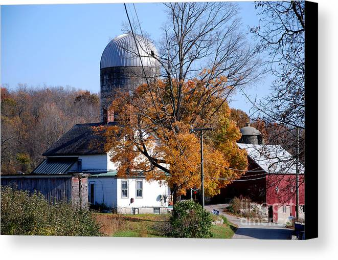 Litchfield County Canvas Print featuring the photograph The Silo by Andrea Simon