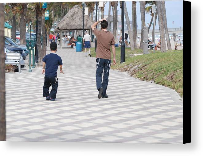 Man Canvas Print featuring the photograph The Walk by Rob Hans