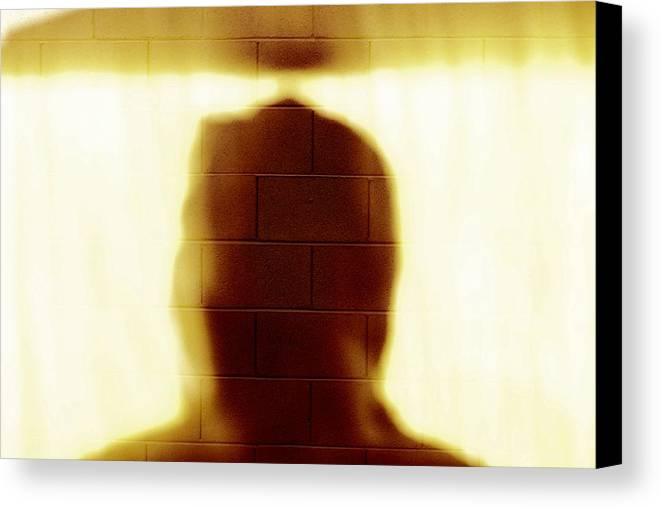 Hdr Digital Photography Gratitude Silent Portrait Thought Full Light Shadow Canvas Print featuring the photograph The Wall - Inspiration Speaks by Sean-Michael Gettys