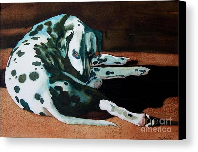Animal Canvas Print featuring the painting The Watcher by Gail Zavala