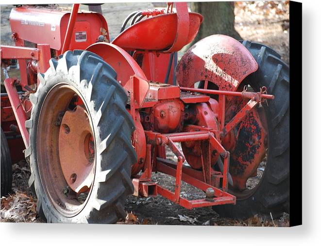 Tractor Canvas Print featuring the photograph Tractor by Peter McIntosh