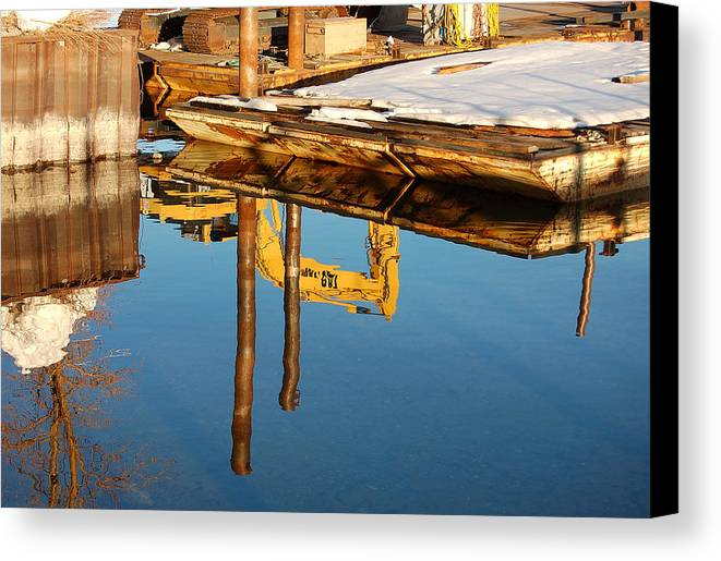 Photography Canvas Print featuring the photograph Tractor Reflections by Heather S Huston