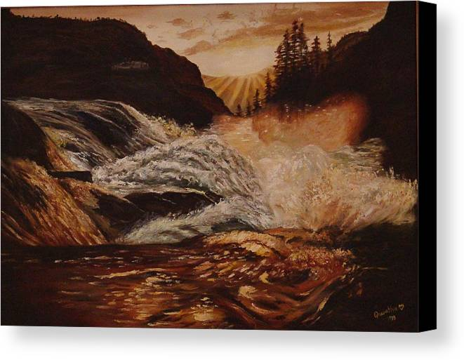 Water Canvas Print featuring the painting Turbulent Waters by Quwatha Valentine