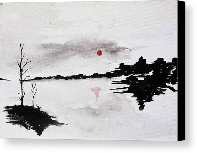 Twilight Canvas Print featuring the painting Twilight Journey I by Kaashi Art