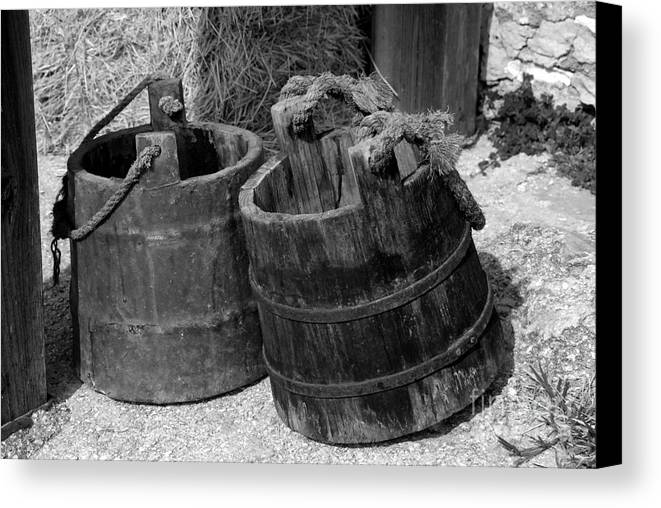 Pales Canvas Print featuring the photograph Two Old Pales by David Lee Thompson