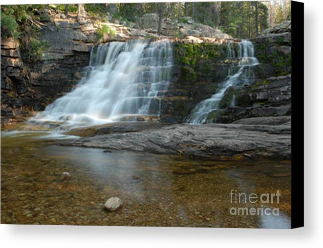 Waterfall Canvas Print featuring the photograph Upper Provo River Falls by Dennis Hammer