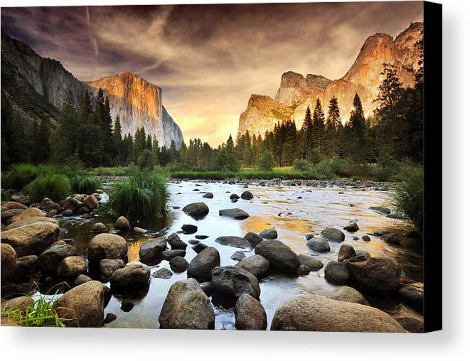 Horizontal Canvas Print featuring the photograph Valley Of Gods by John B. Mueller Photography