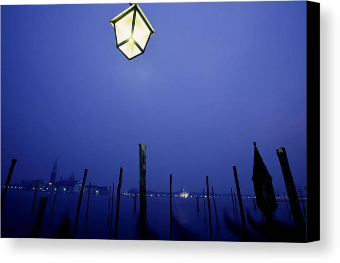 Blue Canvas Print featuring the photograph Venice by Brad Rickerby