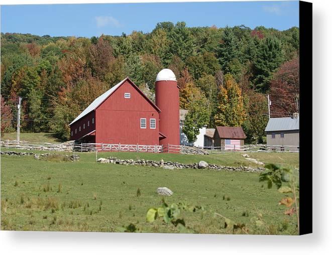 Farm Canvas Print featuring the photograph Vermont Farm by Lois Lepisto
