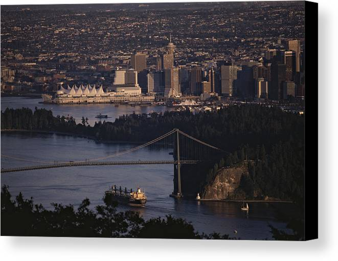 North America Canvas Print featuring the photograph View Of Vancouver, British Columbia by Annie Griffiths