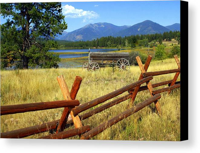 Landscape Canvas Print featuring the photograph Wagon West by Marty Koch