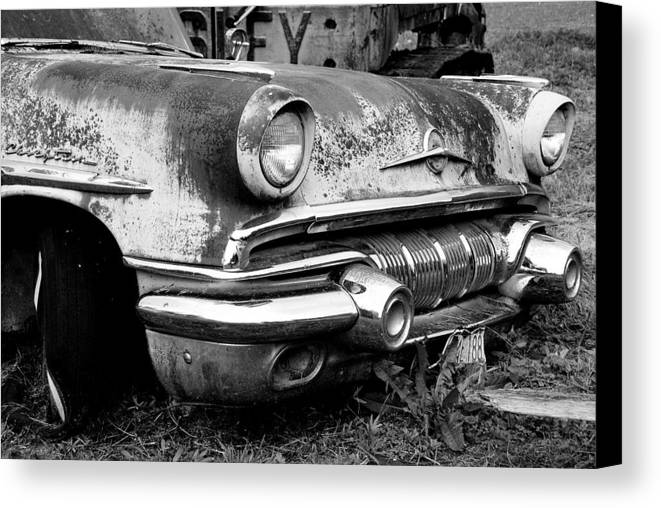 Vintage Cars Canvas Print featuring the photograph Waiting by Jennifer Owen