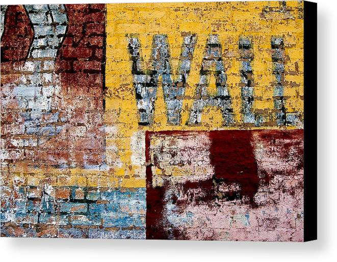 Brick Wall Canvas Print featuring the photograph Wall by Curtis Staiger