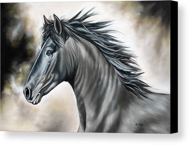 Horse Canvas Print featuring the painting Wanapun by Ilse Kleyn
