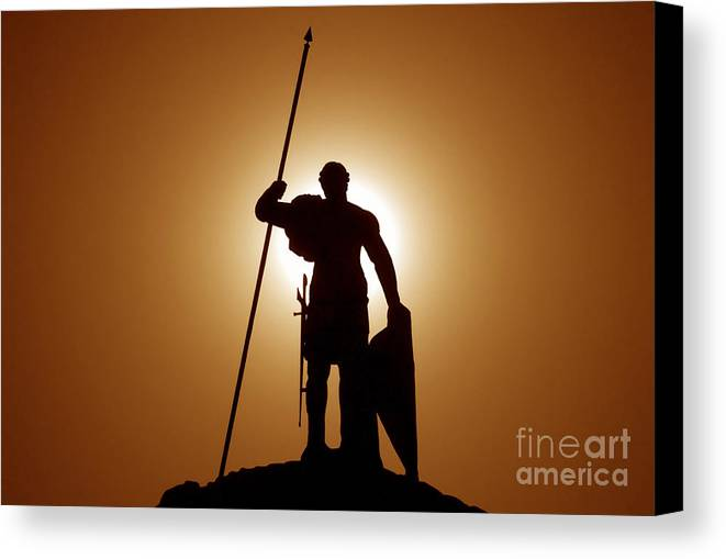 Warrior Canvas Print featuring the photograph Warrior by David Lee Thompson