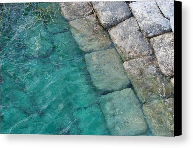 Water Blocks Bricks Canvas Print featuring the photograph Water Blocks by Rob Hans