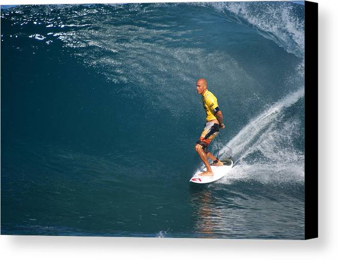 Kelly Slater Canvas Print featuring the photograph World Champion X11 by Kevin Smith