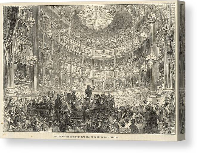 Anti Canvas Print featuring the drawing A Meeting Of The Anti-corn Law League by Mary Evans Picture Library