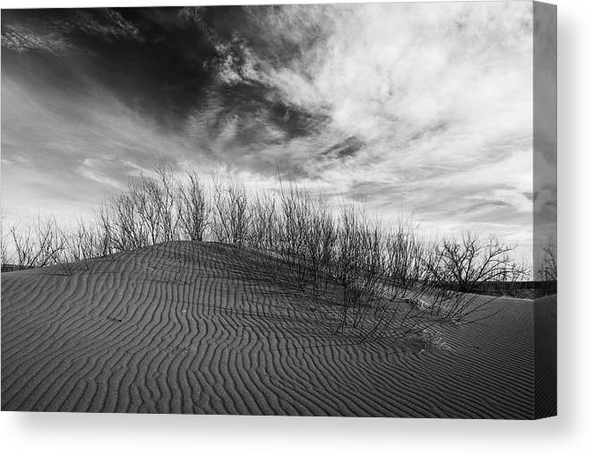 Bruneau Dunes State Park Canvas Print featuring the photograph Bruneau Dunes State Park Idaho by Vishwanath Bhat