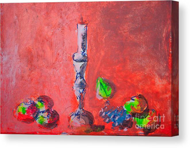 Abstract Canvas Print featuring the photograph Still Life Painting Sketch by Aleksandar Mijatovic
