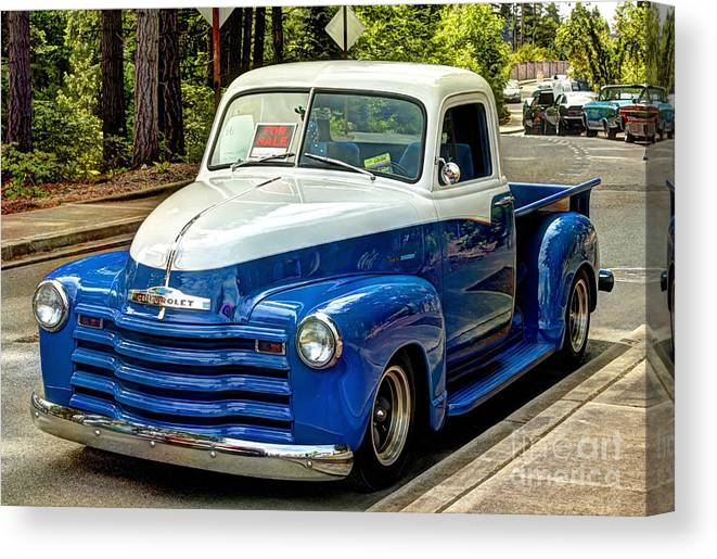 Hdr Canvas Print Featuring The Photograph 1951 Chevy Truck By Chris Anderson