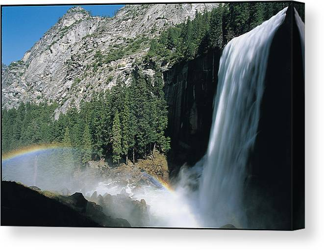 Canvas Print featuring the photograph Yosemite National Park by Robert Rosati