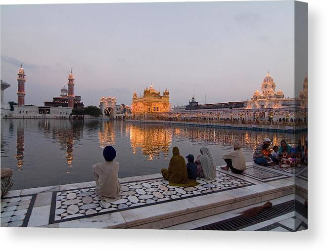 Golden Temple Canvas Print featuring the photograph Golden Temple by Devinder Sangha